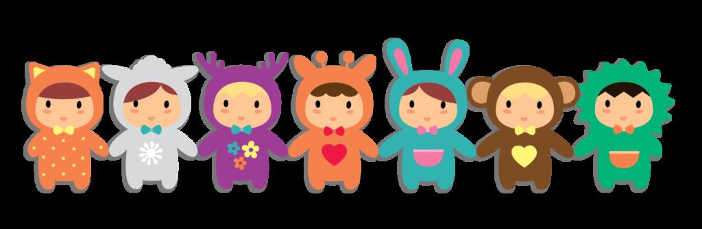 Bambini in maschera - Cooperativa La Cattedrale